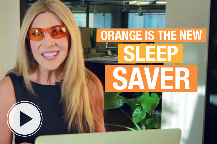 orange glasses fight blue light from computers for great sleep