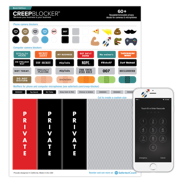 Creep Blocker Webcam Cover