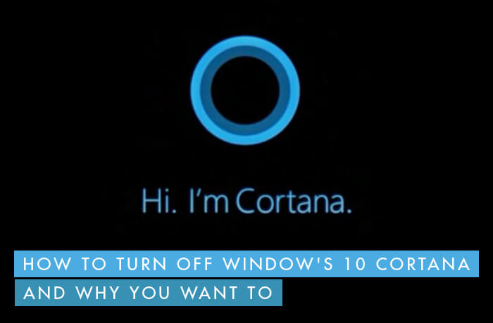 cortana privacy disable turn off
