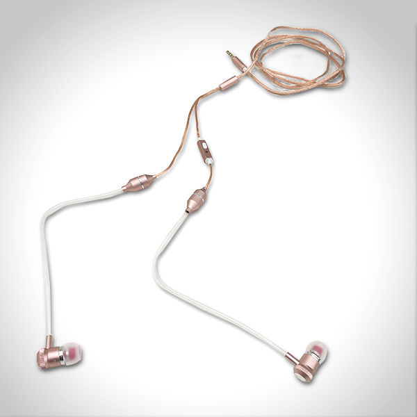 Air Tube Anti Radiation Headphone Rose Gold